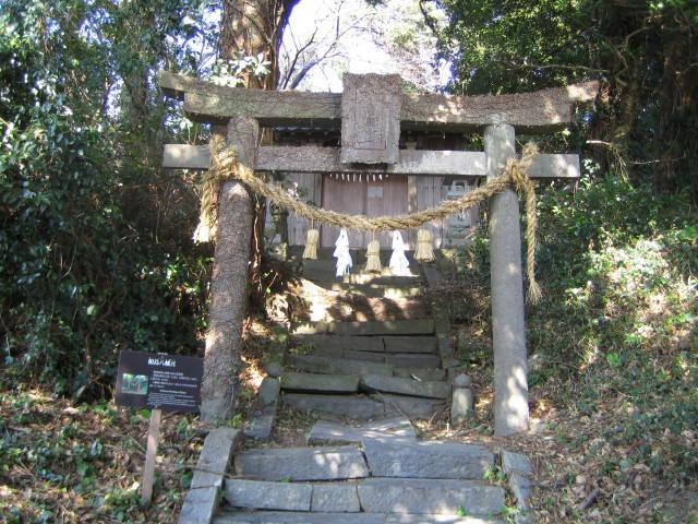 相島八幡堂の鳥居の写真です。