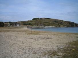 砂見田海水浴場の写真です。
