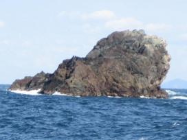 ライオン岩の写真です。